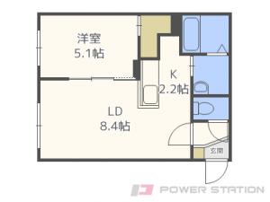 札幌市東区北9条東8丁目01賃貸マンション間取図面