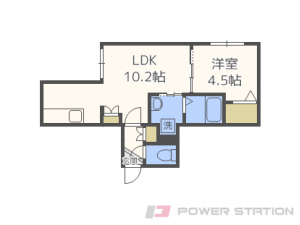 札幌市東区北23条東10丁目11賃貸マンション間取図面