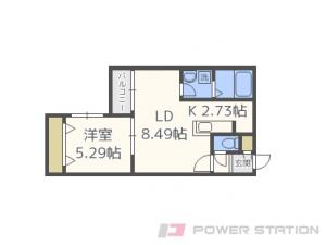 札幌市東区北10条東17丁目11賃貸マンション間取図面
