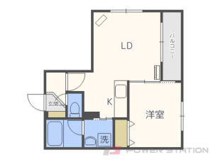 札幌市東区北23条東12丁目01賃貸マンション間取図面