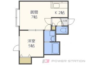 札幌市東区伏古3条2丁目01賃貸アパート間取図面