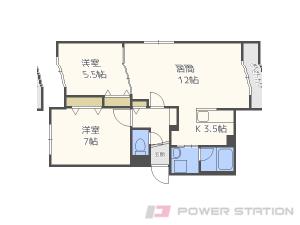 札幌市東区北22条東18丁目01賃貸マンション間取図面