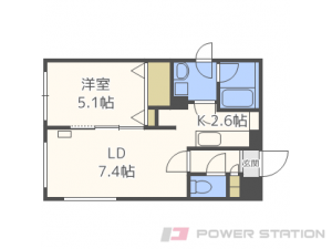 札幌市東区北31条東12丁目11賃貸マンション間取図面