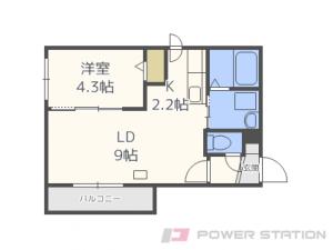 札幌市東区北9条東12丁目01賃貸マンション間取図面