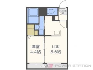 札幌市東区北33条東15丁目11賃貸マンション間取図面
