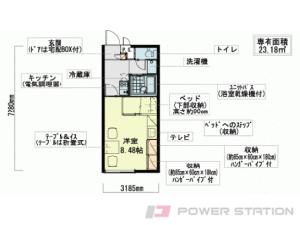 手稲1Kアパート図面