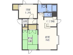 手稲2LDKアパート図面