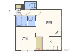 札幌市手稲区西宮の沢4条1丁目1賃貸アパート間取図面