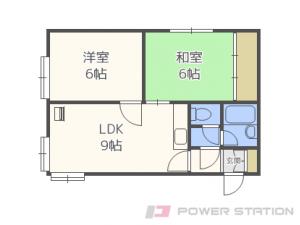 稲穂2LDKアパート図面