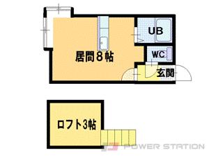 手稲1Rアパート図面