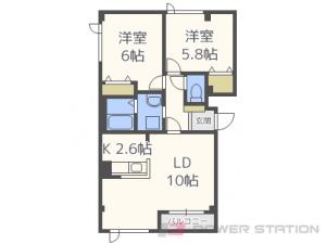 稲積公園2LDKアパート図面