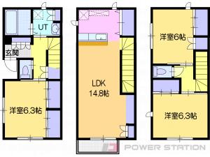 星置3LDKアパート図面
