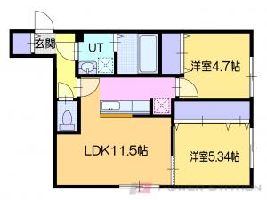 ほしみ2LDKアパート図面