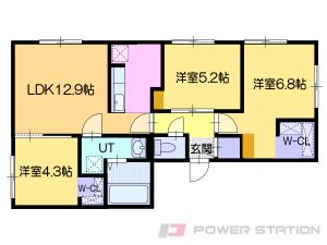 ほしみ3LDKアパート図面