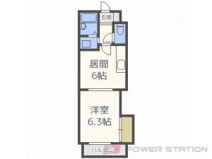 札幌市北区北6条西8丁目0賃貸マンション間取図面