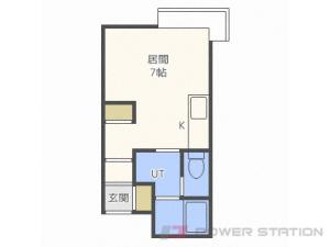札幌市北区北7条西8丁目0賃貸アパート間取図面