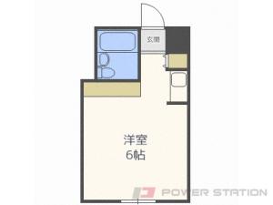 札幌1R分譲リースマンション図面
