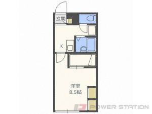 新川1Kアパート図面