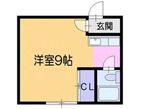 札幌市北区北16条西4丁目0賃貸アパート間取図面