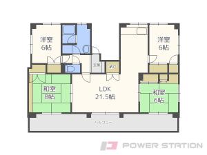 北18条4LDKアパート図面
