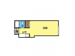 北18条1Kマンション図面