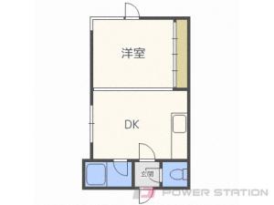 北24条1DKマンション図面