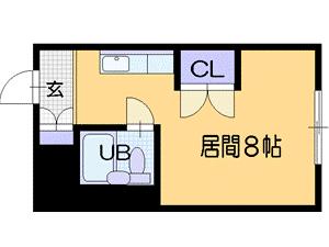 札幌市北区北22条西4丁目0賃貸マンション間取図面