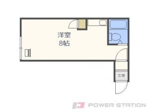 札幌市北区北26条西8丁目1賃貸アパート間取図面