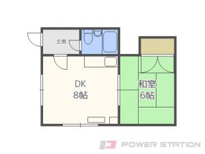 札幌市北区北29条西11丁目1賃貸アパート間取図面
