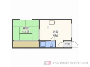 札幌市北区北29条西5丁目1賃貸アパート間取図面