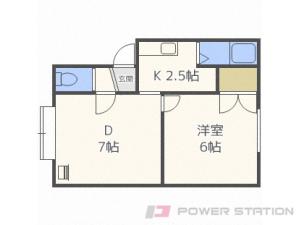 新川1LDKアパート図面