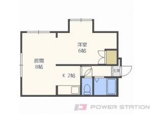 新川1DKマンション図面