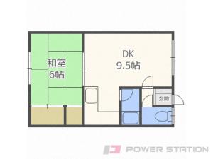 札幌市北区太平9条2丁目0賃貸アパート間取図面