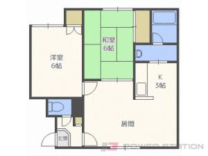 新川2DKアパート図面