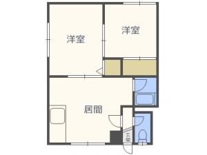 麻生2DKアパート図面