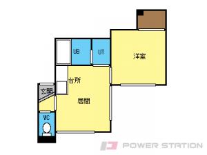 麻生1DKアパート図面