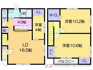 篠路3LDKアパート図面