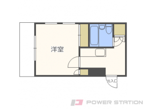 麻生1Kマンション図面
