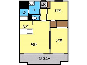 太平2LDKマンション図面