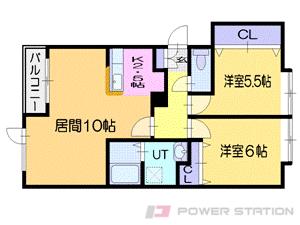 太平2LDKアパート図面