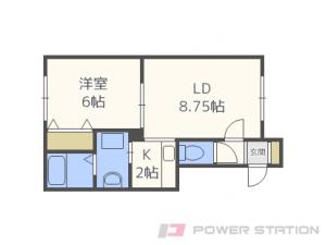 百合が原1LDKアパート図面