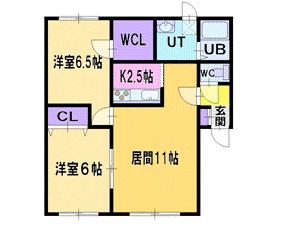 麻生2LDKアパート図面
