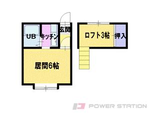篠路1Kアパート図面