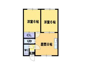 篠路4LDKアパート図面