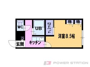札幌市北区篠路7条7丁目0賃貸アパート間取図面