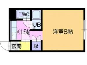 札幌市北区北18条西6丁目0賃貸マンション間取図面