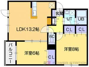 グランクラス:2号室タイプ(2LDK)