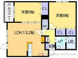 グランクラス:3号室タイプ(2LDK)