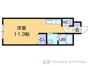 札幌市北区南あいの里6丁目0賃貸マンション間取図面