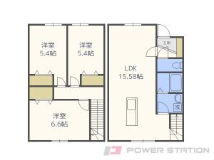 札幌市北区篠路3条1丁目1賃貸アパート間取図面